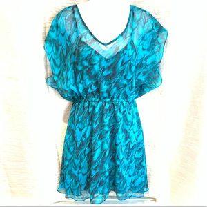 Beautiful Blue-Green Express Dress